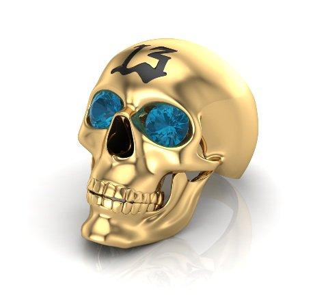 Men's 10 kt  Skull Ring  Lucky 13