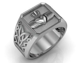 Men's Claddah Ring Signet Ring