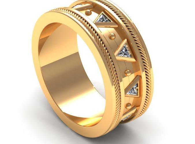 Wedding Ring in Tech Design 14 k