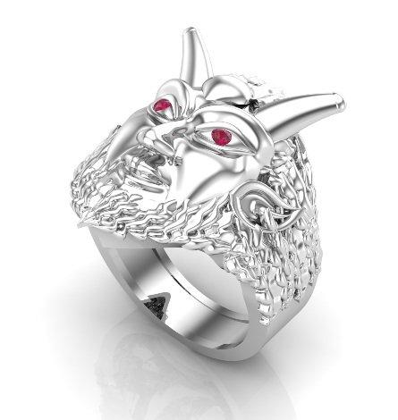 Men's Pan Horned Ring