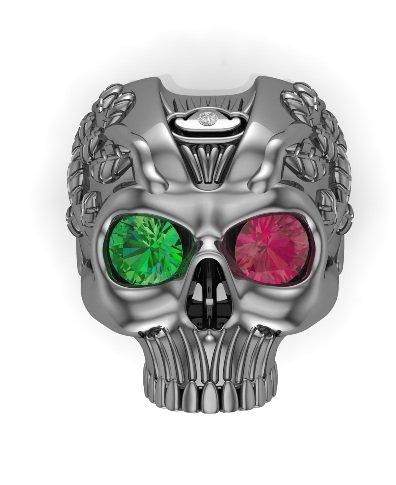 Men's Skull Ring Solid Silver