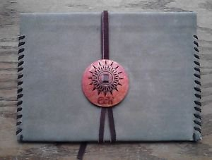 """Suede Leather Folder Pouch Notebook Holder Handmade in Mexico 10"""" x 7.5"""""""