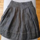 Talbots Collection for Petites Skirt Size 4 4P Petite Navy Blue Denim Full skirt