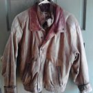 Leather Bomber Jacket Adventure Bound Small Thinsulate Zip out VTG Brown