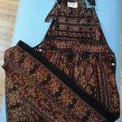 Ikat Overalls Tribal Ethnic Rare HTF EUC Vintage Hand Woven 100% Cotton