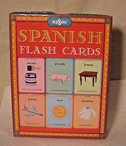 Spanish Language Flashcards Elementary Homeschool Spanish Vocabulary Illustrated