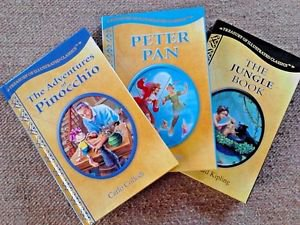 Peter Pan Jungle Book Pinocchio LOT 3 HardcoverTreasury of Illustrated Classics
