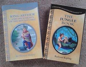King Arthur and Jungle Book Hardcover Treasury of Illustrated Classics LOT 2
