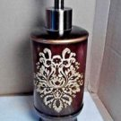 Liquid Soap Dispenser Pump Art Deco Design Kitchen Bathroom Fancy Metal Floral