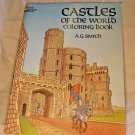 Dover History Castles of the World Coloring Book Adults Children Vintage Unused