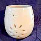 Ceramic Candle Holder Nantucket Home Lantern Luminary Decoration 7 inches tall