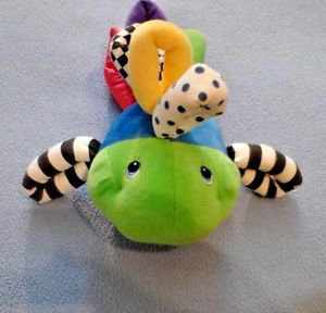 Kids II  Fish Baby Developmental Toy Bell Inside Infant Toy Textile Rings Color