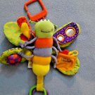 Lamaze Freddie The Firefly Baby Developmental Infant Teether, Textile Toy Rings