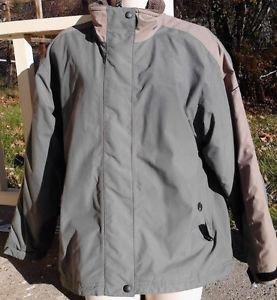 LANDS' END Women's Medium 10/12 Coat Jacket Green Brown
