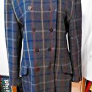 Wool Blazer Jacket Coat Vintage Double Breasted Women's 12 Lined, Buttons