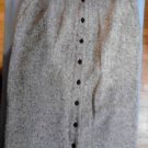 ORVIS Womens Black White Check Wool Tweed Skirt Long Size 12 Fully Lined