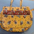 Vera Bradley Diaper Baby Bag French Yellow Retired Pattern  W/Diaper Pad EUC