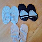 Capezio Sansha Ballet Slippers LOT 3 pairs Black White Pink Dance Gymnastics