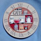 "Wood Clock Face 11"" Roman Numerals Coffee Theme Replacement Parts Crafts DIY"