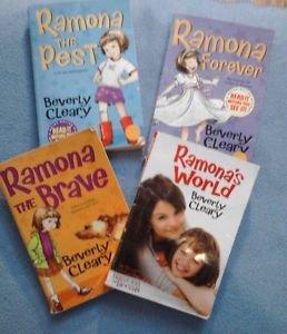 Set of 5 Books Beverly Cleary Paperback Ramona / Ellen Tibbits LOT 5 Books