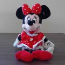 Disney Minnie Mouse Valentine's Day Heart Dress Plush Bean Bag Doll 10 inches