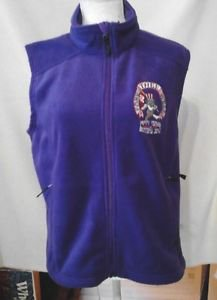 Fare Thee Well 50 Years Grateful Dead Womens Large Purple Fleece Vest FREE SHIP
