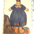 primitive Pattern Bunny Rabbit Cloth carrots Folk Art Rachel Flops Fabric sew