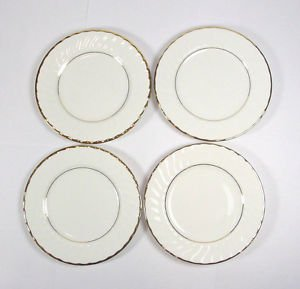 Towle Silversmiths bread plate Cascade Gold Bone China ONE wavyreplacement
