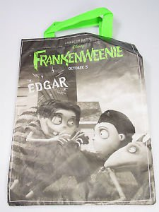 FRANKENWEENIE Edgar tote Halloween trick or treat bag Tim Burton subway premium
