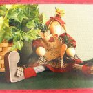 Primitive Sew Pattern Folk Art Bunny Rabbit Olivia Cloth Fabric Doll 323