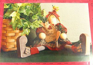 Primitive Sew Pattern Folk Art Bunny Rabbit Olivia Cloth Fabric Doll 323