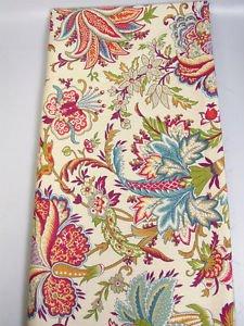 Richloom blooming flowers botanical fabric multicolor modern print 1 YARD pillow