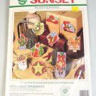 Cross Stitch Christmas Ornaments Southwest cowboy boots, hat, cactus, Santa
