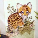 Baby Ocelot Cross Stitch Kit Jungle theme Candamar designs Kit 1992