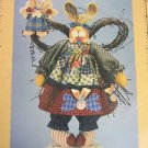 Pattern primitive Angel Heaven Folk Art Bunny Rabbit Cloth Fabric sew HS35