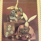 Pattern primitive Folk Art Bunny Rabbit mini Button Cloth Fabric sew 135 country