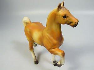 Mid Century Modern ceramic Horse prancing Palomino Golden figurine cake topper