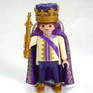 Playmobil  4663King Prince purple Figure Crown Robe Fairy Tale Castle diorama