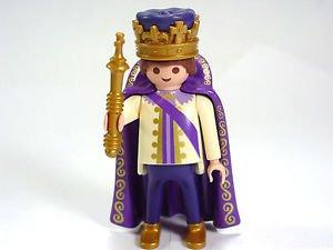 Playmobil  4663King Prince purple Figure Crown Robe Fairy Tale Castle diorama