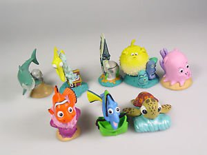 Disney Finding Nemo Dory Squirt toy figures pvc cake topper goody bag toys