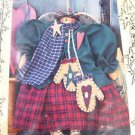 Primitive Pattern Snow Angel Folk Art Cloth Fabric Doll Sew millies mitt