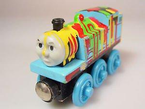 Wood Thomas the train Splatter paint magnet