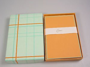 Cranes 10 orange green imprintable cards with envelopes