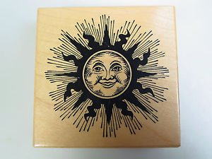 rubber stamp Smiling sun sunshine PSX G 1471 scrapbooking card making 1995