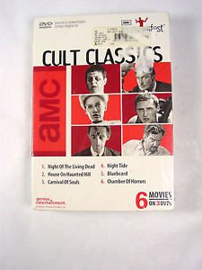 6 Horror scary movies DVD Cult Classics night living dead horror night tide