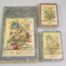 Bridge card set Caspari Winterthur Bowles' flowers prints 2 decks scorepad
