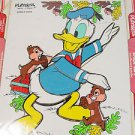 1978 Playskool Disney Donald duck wood board puzzle chipmunk fine motor skills