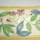 Croscill Botanica Flower Wallpaper Border multicolor floral prepasted vinyl
