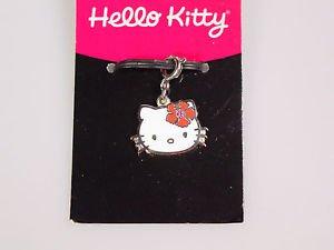 Sanrio Hello Kitty flower rhinestone pendant charm zipper pull 2005