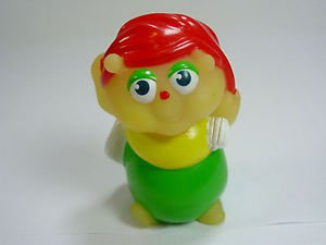Vintage Playskool Glow Worm toy finger puppet Bug Clutterbug sleepy night cap